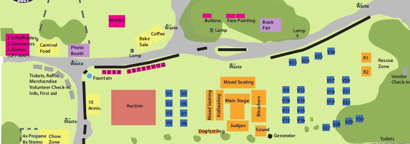DogFest Grounds Map